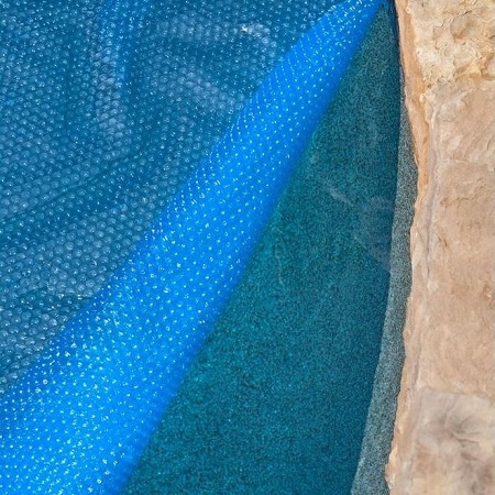 Thermo-Tex Rectangle Solar Pool Cover On Pool