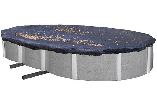 Blue Wave Above-Ground Oval Pool Cover