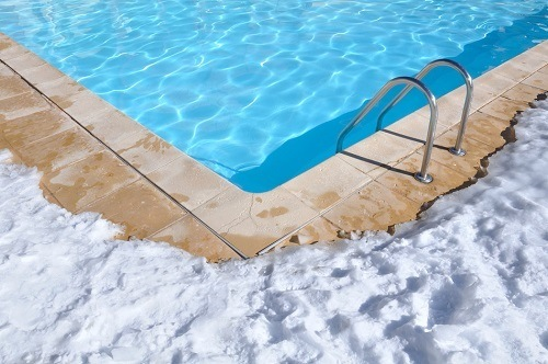 Snow By The Pool